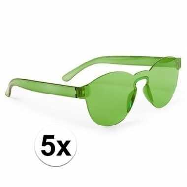 X groene verkleed zonnebrillen volwassenen carnavalskleding valkenswa