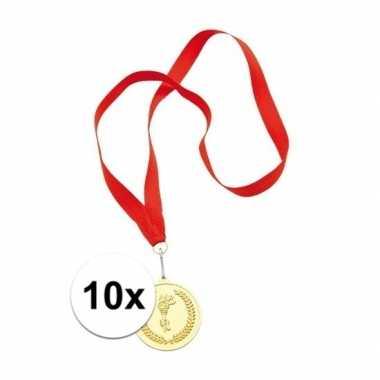 X medailles goud gekleurd carnavalskleding valkenswaard
