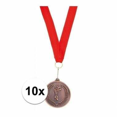 X medailles lint brons carnavalskleding valkenswaard