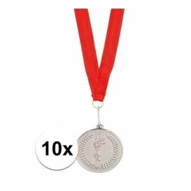 X medailles zilver gekleurd halslint carnavalskleding valkenswaard