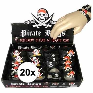X piraten armbandjes kinderen carnavalskleding valkenswaard