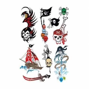 X piraten thema plak tattoo stickers carnavalskleding valkenswaard