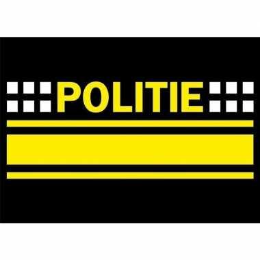 X politie logo sticker . carnavalskleding valkenswaard