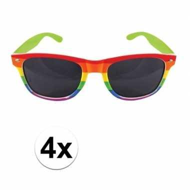 X regenboog feest brillen volwassenen carnavalskleding valkenswaard