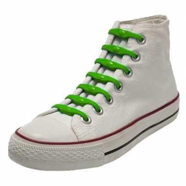 X shoeps elastische veters groen kinderen/volwassenen carnavalskledin