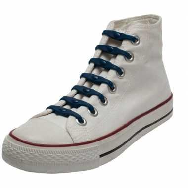 X shoeps elastische veters navy kinderen/volwassenen carnavalskleding