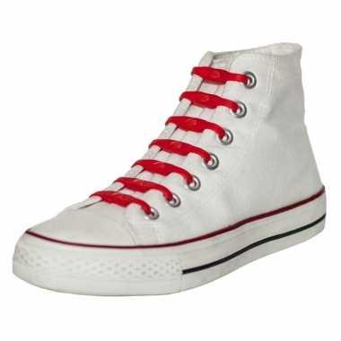 X shoeps elastische veters rood kinderen/volwassenen carnavalskleding