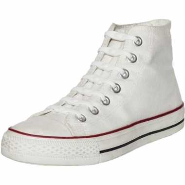 X shoeps elastische veters wit kinderen/volwassenen carnavalskleding