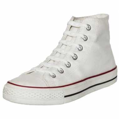 X shoeps elastische veters wit/parel kinderen/volwassenen carnavalskl