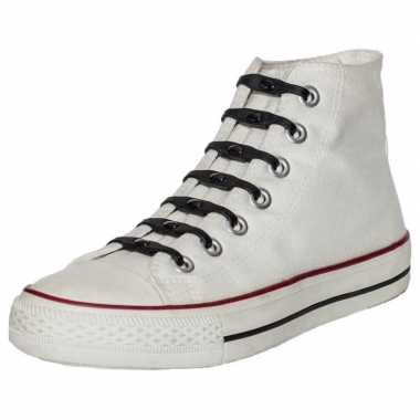 X shoeps elastische veters zwart kinderen/volwassenen carnavalskledin