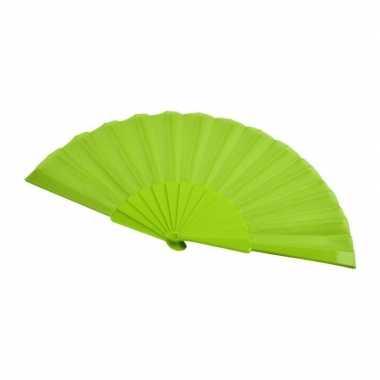 X stuks spaanse hand waaiers lime groen carnavalskleding valkenswaard