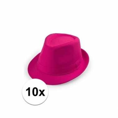 X toppers roze hoed volwassenen carnavalskleding valkenswaard