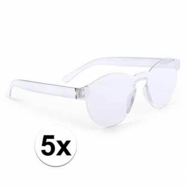 X transparante verkleed zonnebrillen volwassenen carnavalskleding val