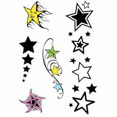 X velltjes sterren tattoos stuks per vel carnavalskleding valkenswaar