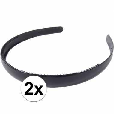 X zwarte dames diadeem/haarband , breed carnavalskleding valkenswaard