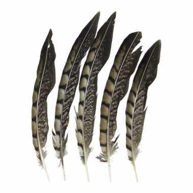 Zakje fazant veren stuks carnavalskleding valkenswaard