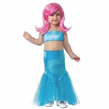 Zeemeermin jurk pruik meisjes carnavalskleding valkenswaard