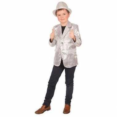Zilver glitter verkleed jasje kinderen carnavalskleding valkenswaard