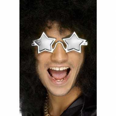 Zilveren sterren disco bril volwassenen carnavalskleding valkenswaard