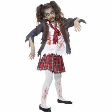 Zombie schoolmeisje carnavalskleding meisjes valkenswaard