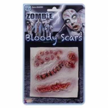 Zombie wond stuks carnavalskleding valkenswaard