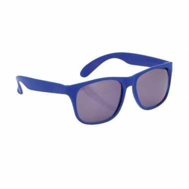 Zonnebrillen blauw carnavalskleding valkenswaard