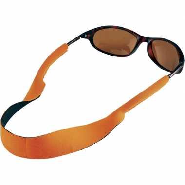 Zonnebrillen/brillen koord oranje carnavalskleding valkenswaard