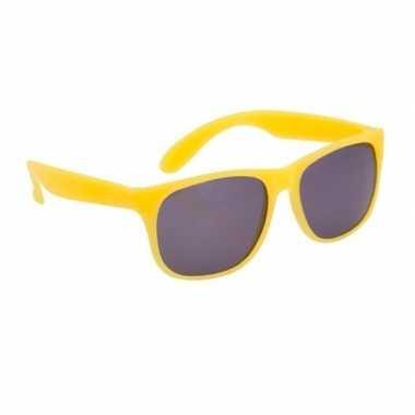 Zonnebrillen geel carnavalskleding valkenswaard