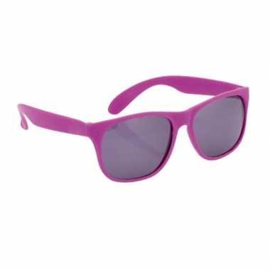 Zonnebrillen paars carnavalskleding valkenswaard
