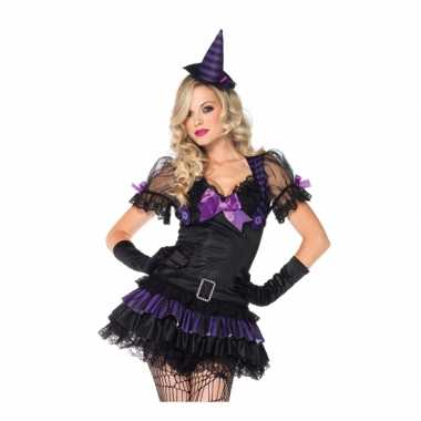 Zwart heksen carnavalskleding hoedje valkenswaard