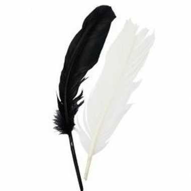 Zwart/wit indianenveren carnavalskleding valkenswaard