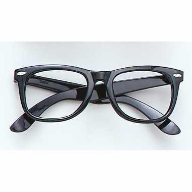 Zwarte bril zonder glazen carnavalskleding valkenswaard