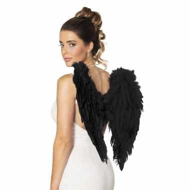 Zwarte engelen vleugels carnavalskleding valkenswaard