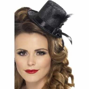 Zwarte hoge hoeden glitter
