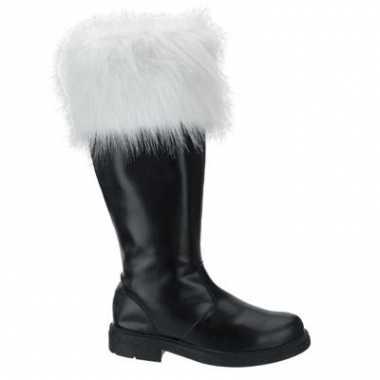 Zwarte hoge kerstman laarzen