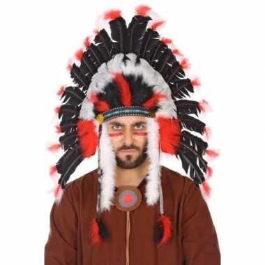 Zwarte indianen tooi heren carnavalskleding valkenswaard