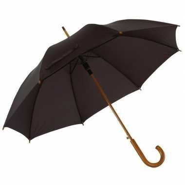 Zwarte paraplu houten handvat carnavalskleding valkenswaard