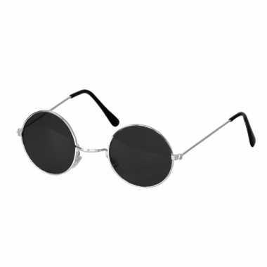 Zwarte party bril ronde glazen carnavalskleding valkenswaard