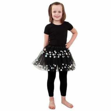 Zwarte petticoat stippen meisjes carnavalskleding valkenswaard