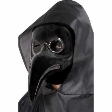 Zwarte plaag dokter masker volwassenen carnavalskleding valkenswaard