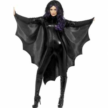 Zwarte vleermuisvleugels dames carnavalskleding valkenswaard
