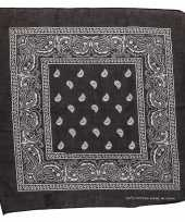 Boerenzakdoek zwart