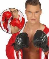 Bokser verkleed handschoenen rood volwassenen