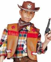 Bruin cowboy giletje kids