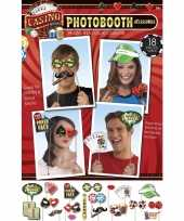 Casino photo booth set stuks