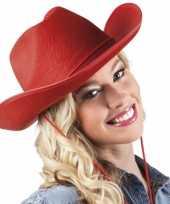 Cowboyhoed rood volwassenen