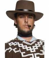 Cowboyhoeden bruin zwarte band
