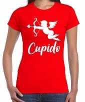 Cupido liefde valentijn verkleed t-shirt rood dames