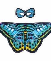 Dans aurelia blauwe vlindervleugels kinderen