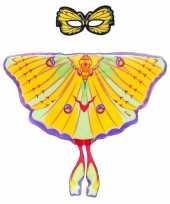 Dans komeetstaart gele vlindervleugels kinderen